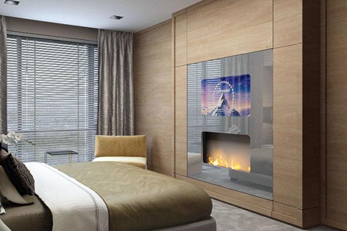 Влагозащищенный телевизор и камин на воде