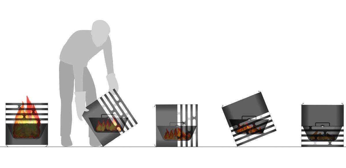 гриль барбекю Hoefats Cube Fire